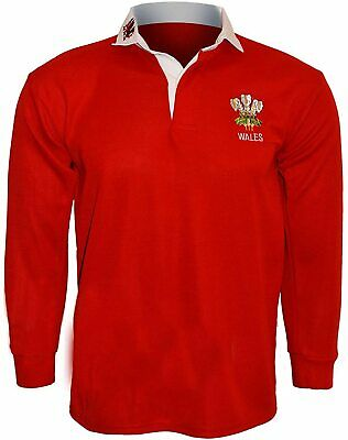 Wales Rugby Shirt Classic Red 6 Nations Six Nations Welsh Rugby Sport Top • 21.99£