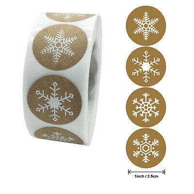 £3.99 • Buy X500 White Craft Snowflake Christmas Stickers Labels Business Party Seal Decor