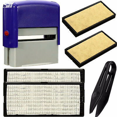£7.22 • Buy Self-Inking Rubber Stamp Kit Ink Stamper Text Print Office Business Name Address