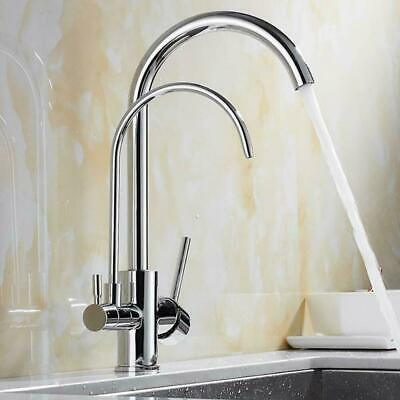 Onyzpily 3 Ways Pure Drinking Water Kitchen Sink Tap 360° Swivel Spout Mixer Tap • 59£