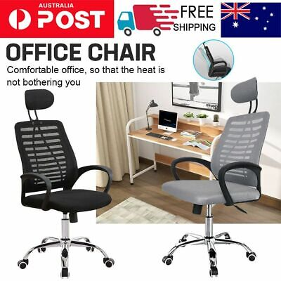 AU61 • Buy Black High Back Executive Office Chair Computer Gaming PU Leather Mesh Chairs