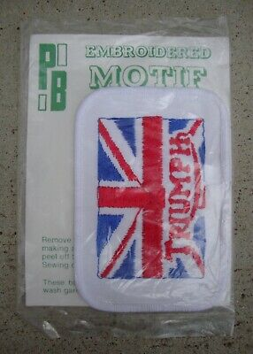 GENUINE VINTAGE TRIUMPH SEW ON PATCH IN UNUSED CONDITION ~ 1980's • 7.50£