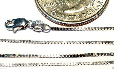 $129.99 • Buy 14kt White Gold 16 Inch .8MM BOX CHAIN With Lobster Lock!  Guaranteed FREE SHIP