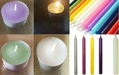 £2.25 • Buy Tapered Colourful Dinner Candles Bistro Church Home Party Candles Non Drip Gifts