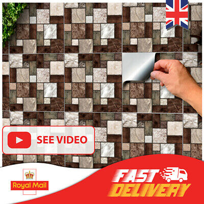 24 Tile Stickers Multi Mosaic Tile Transfers 6x6 Peel And Stick Tile Cover 15x15 • 7.99£