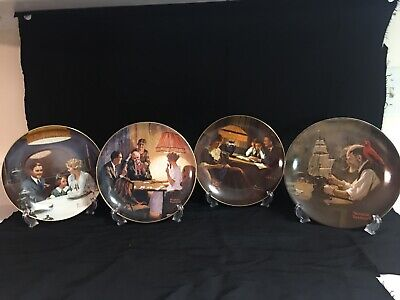 $ CDN49.60 • Buy Norman Rockwell By Edwin Knowles  Set Of  4 Collectors Plates