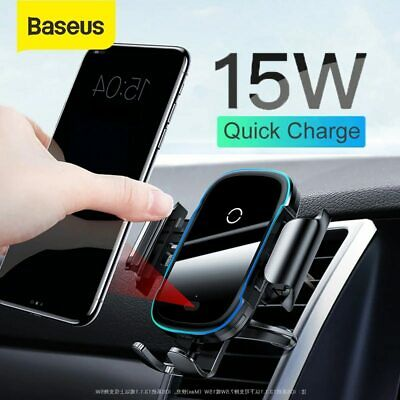 AU42.99 • Buy Baseus Qi Wireless Car Charger Phone Holder Automatic Clamp Air Vent Smart Mount