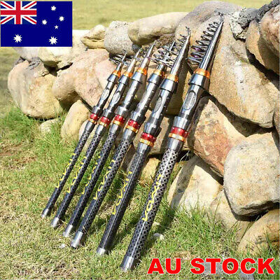 AU22.99 • Buy Travel Telescopic Fishing Rod Hard Carbon Fiber Fishing Rod ALL Size Portable