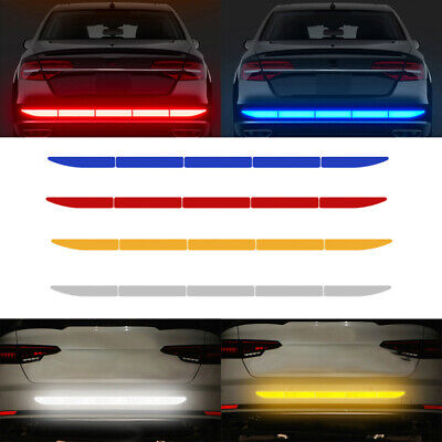 Car Auto Reflective Warn Strip Tape Bumper Truck Safety Stickers Decals Paster • 6.99£