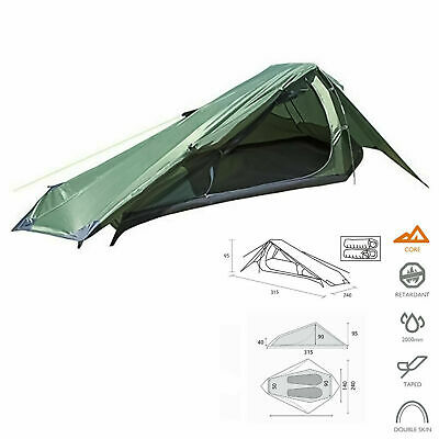 Summit Eiger Trekker Tent 2 Man Person Camping Quick Pitch Festival Backpacking • 40£