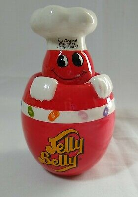 £15.57 • Buy The Original Gourmet Jelly Bean Ceramic Red Candy Jar Jelly Belly