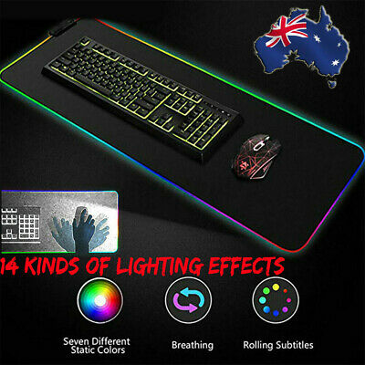 AU25.99 • Buy 80*30CM Large RGB Colorful LED Lighting Gaming Mouse Mat Pad For PC Laptop 🔥