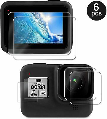 $ CDN8.45 • Buy Screen Lens Protector For GoPro Hero 8 Black Ultra Clear Tempered Glass 6 Pcs