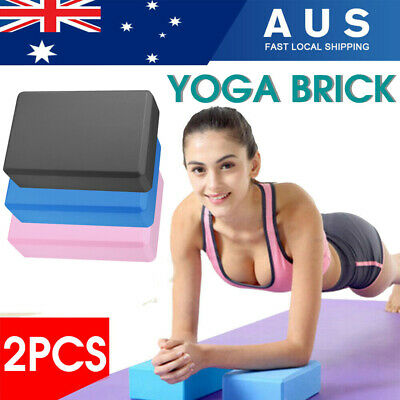 AU15.99 • Buy 2Pcs Gym Sport Tool Foaming Yoga Fitness Practice Block Brick Home Exercise