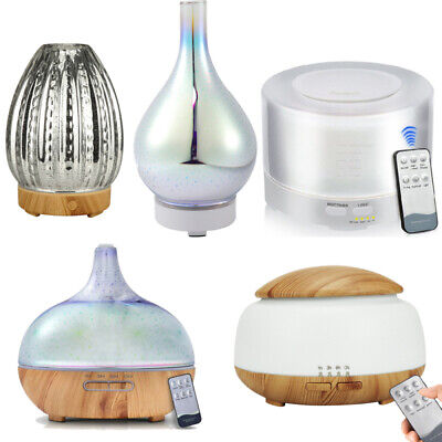AU28.99 • Buy Aroma Aromatherapy Diffuser LED Essential Oil Ultrasonic Air Humidifier Purifier