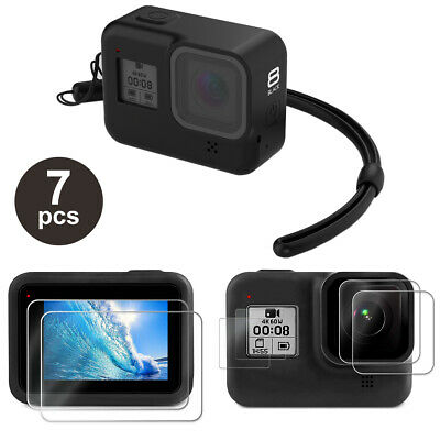 $ CDN10.14 • Buy Accessories Kit For GoPro Hero 8 Black Silicone Protective Case+Screen Lens Film
