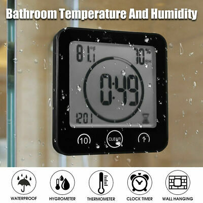 AU22.99 • Buy BALDR Digital Shower Bathroom Timer Clock LCD Touch Screen Countdown Thermometer