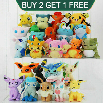Rare Pokemon Collectible Plush Doll Character Soft Toy Stuffed Teddy Xmas Gift • 6.99£