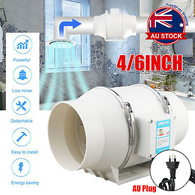 AU52.09 • Buy Low Noise 4/6 Inline Duct Fan Hydroponic Extractor Fan Vent Exhaust Air Blower )