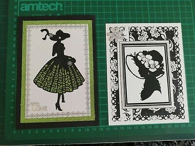 2  Handmade Female Birthday  Card Toppers • 1£