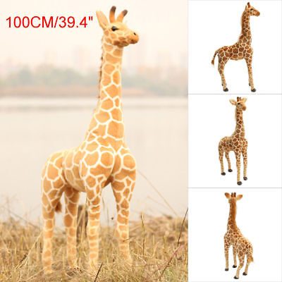 Standing Giraffe Toy Doll Giant Large Stuffed Animals Soft Cute Doll Gift 100cm • 22.86£
