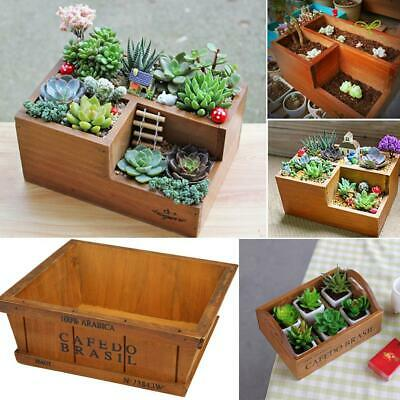 Wooden Garden Herb Planter Window Box Trough Pot Succulent Flower Plant Bed • 8.69£