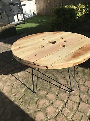 Coffe Table, Cable Drum, Hardwood, Mango Wood • 130£