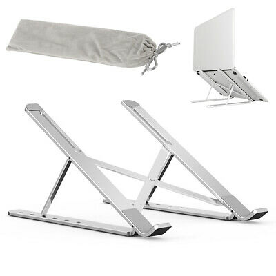 AU24.58 • Buy Foldable Laptop Stand Adjustable Notebook Table Portable Tray Lazy Computer Desk