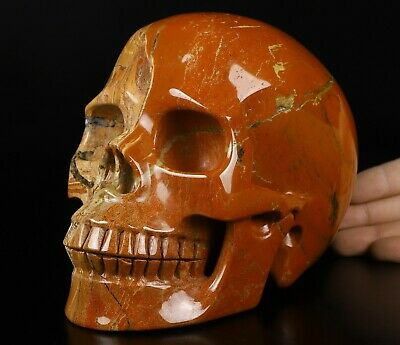 $2.25 • Buy Lifesized 6.8  RED JASPER  Carved Crystal Skull, Realistic, Crystal Healing