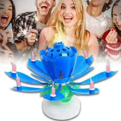 $ CDN4.31 • Buy ROTATING Lotus Candle Birthday Flower Musical Floral Cake Candles &Music U6E6
