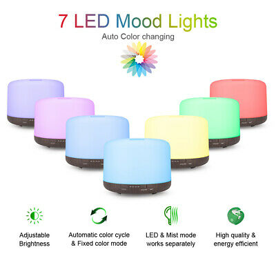 AU27.69 • Buy 2020 500ml LED Ultrasonic Humidifier Essential Oil Aroma Diffuser Remote Control