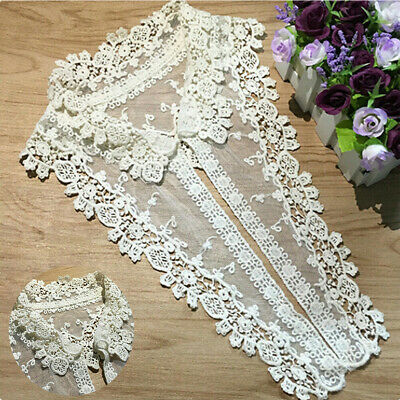 DIY Patch Applique Neckline Clothes Sewing Lace Embroidered Trim Collar Flower • 2.28£