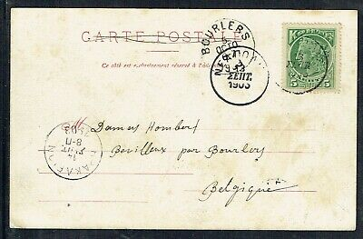 Crete 1903 Picture Postcard To Belgium With 5l Green Stamp As Scans • 15£