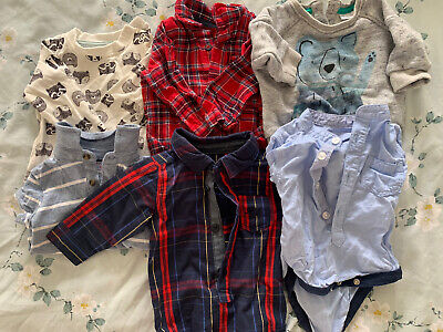 Baby Boys Up To 3 Months 0-3 Months Winter Tops Bundle Next • 5£