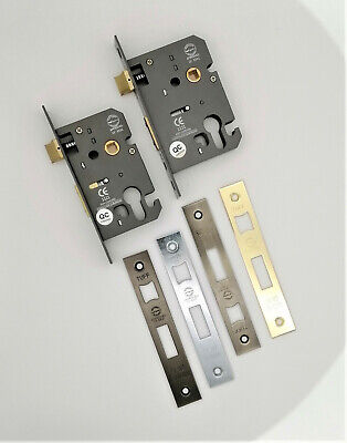 CE Rated-Euro Profile Mortice Door Lever Sash Lock Case Cylinder Keyhole 2.5/3  • 15.95£