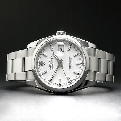 $ CDN8172.84 • Buy MINT 2007 Rolex 116200 Datejust Stainless Steel 36mm Z Serial Watch White Dial