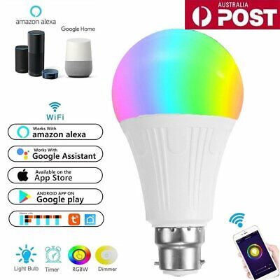 AU18.99 • Buy B22 WiFi Smart LED Light Bulb Globe For Alexa Google Home RGB Color Lamp Indoor