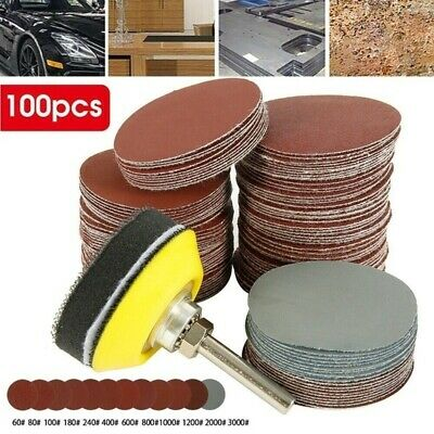 100Pcs Flap Wheel Sandpaper Sanding Disc For Rotary Tool 100-3000 Grit 2.5cm UK • 6.99£