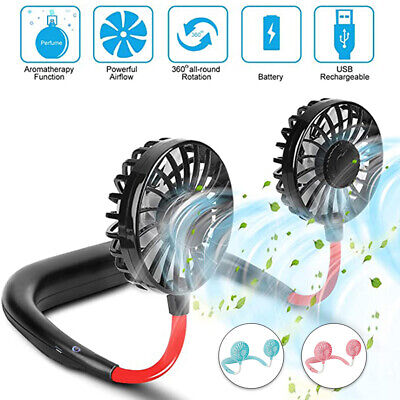 AU17.99 • Buy Sports Mini Fan Travel Hanging USB Charging Lazy Tool Neck Portable Rechargeable