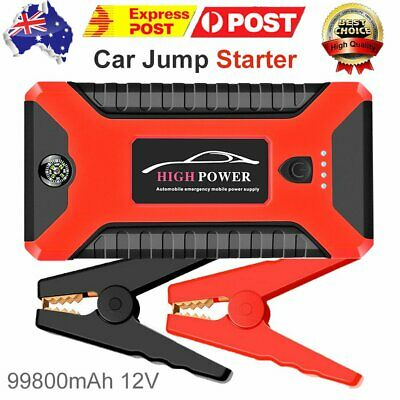 AU81.79 • Buy JX27 99800mAh Peak Jump Starter Pack With USB Power Bank Smart Battery Clamps BY
