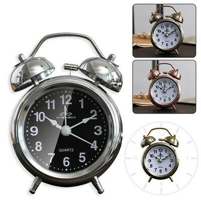 AU20.55 • Buy Retro Loud Double Bell Alarm Clock With Night Light Bedside Home Room Decor