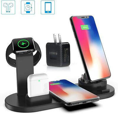 AU59.99 • Buy 4 In 1 Multi-Device Charging Dock Wireless Charger For Apple Watch Phones