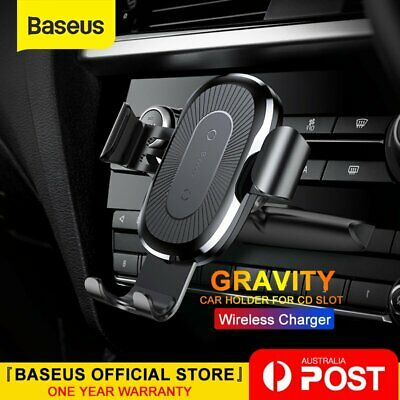 AU27.99 • Buy Baseus Qi Wireless Charger Charge Car Mount Holder Charging Stand For Mobile