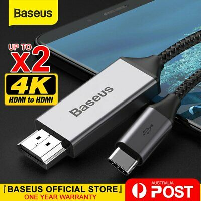 AU28.99 • Buy Baseus USB C To HDMI Cable Type C To HDMI 4K Cord For Samsung Huawei Macbook
