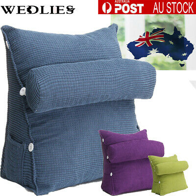 AU33.99 • Buy AU Bed Chair Sofa Pillow Office Rest Neck Back Support Wedge Cushion Adjustable