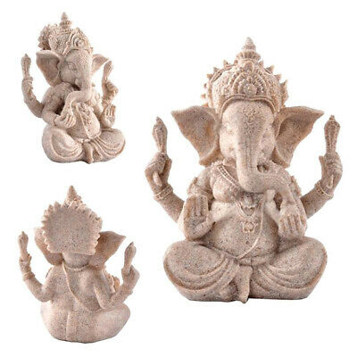 Ganesh Buddha Statue Sandstone Elephant Sculpture Fengshui Figurine Craft Decor • 4.19£