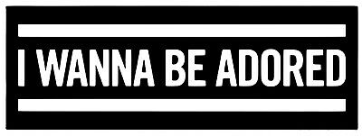 2x I Wanna Be Adored Stone Roses Vinyl Decals 16 Colors Wall Window Car Sticker  • 2.49£