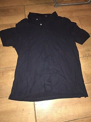 Mens Size M Navy Blue / Black Polo Shirt By Blue Harbour / Marks And Spencer • 0.99£
