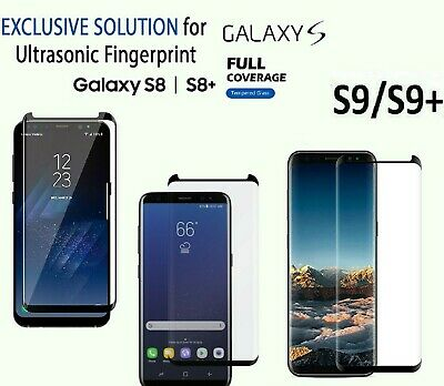 Tempered Glass Screen Protector For Samsung Galaxy S8 S9 Plus 5D Genuine 100% • 1.49£