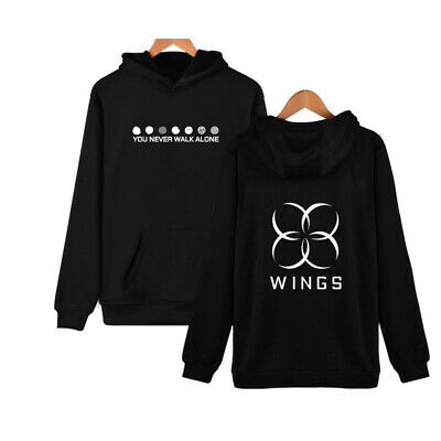 $19.95 • Buy Large BTS Hoodie - YOU NEVER WALK ALONE Hooded Pullover Sweater Bangtan Boys